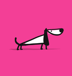 Cute dachshund dog sketch for your design vector