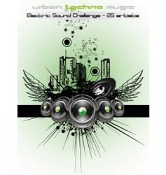 disco dancing flyer vector image