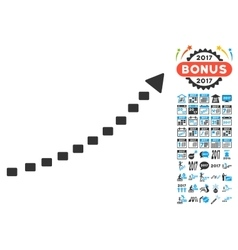 Dotted Growth Trend Icon With 2017 Year Bonus vector image