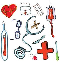 Drawn treatment tools vector
