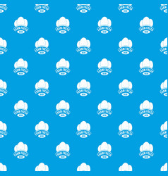 eco farm fresh pattern seamless blue vector image