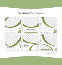 Editable instagram social media post feed vector