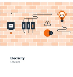Electricity connection electrical services and vector