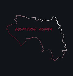 Equatorial guinea map and flag in white background vector