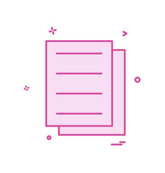 files document icon design vector image