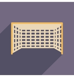Flat web icon with long shadow football goal vector
