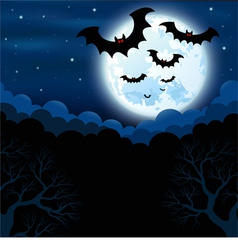 Full moon in the Halloween vector image