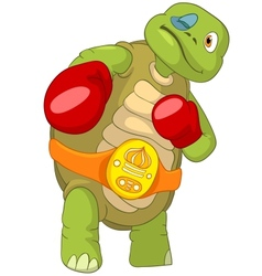 Funny Turtle Boxer vector image
