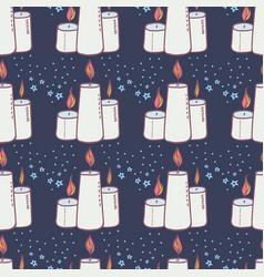 Halloween wax candle pattern-10 vector