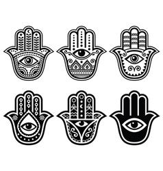 Hamsa hand hand of fatima - amulet symbol vector