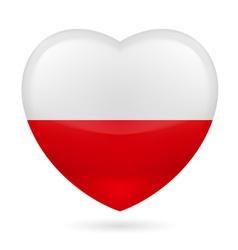 Heart icon of Poland vector image