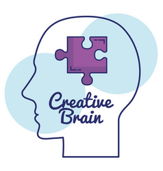 human profile creative brain vector image