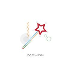 imagination miracle magic wand business vector image