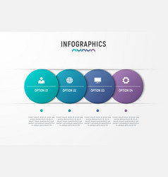 Infographic chart design with the vector