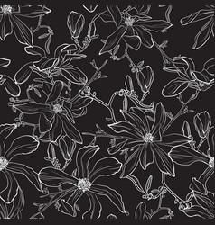 japanese magnolia flower vector image