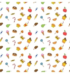 Kids hand drawing tasty food vector