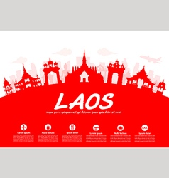 laos Travel Landmarks vector image
