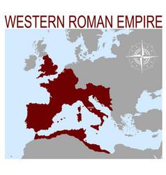 Map western roman empire vector
