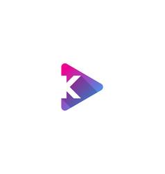 media letter k logo icon design vector image