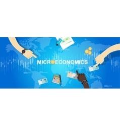 Microeconomics micro economy financial wubject vector
