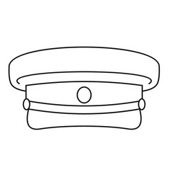 Military hat icon outline style vector