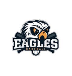 modern professional emblem eagles for baseball vector image