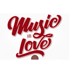 music is love volumetric hand drawn vector image