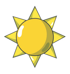 Natural sun and normal weather icon vector