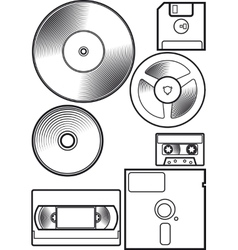 Old device floppy vector