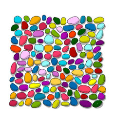 Pebble colorful background for your design vector
