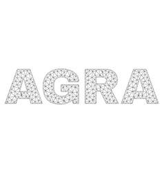 polygonal mesh agra text tag vector image