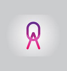qa logo graphic branding letter element vector image
