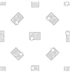 Read book pattern seamless vector