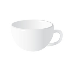 realistic white cup vector image