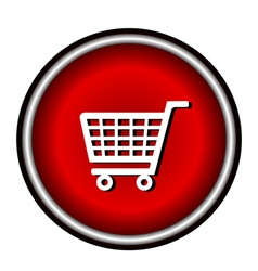 red circle icon on white background vector image vector image