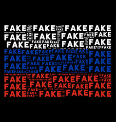 Russian flag pattern of fake words vector