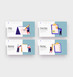 Scheduling planning plan writing landing page vector