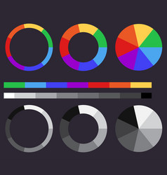 Set of color gradients color circle vector