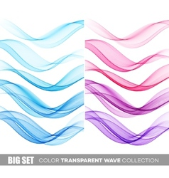 Set of color transparent smoky wave vector