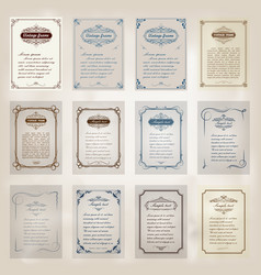 set of vintage frame vector image