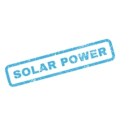 Solar Power Rubber Stamp vector
