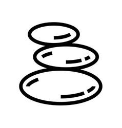 spa stones spa salon line icon wellness vector image