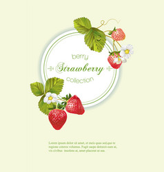 Strawberry vertical banner vector image