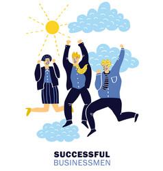 success businessmen poster vector image