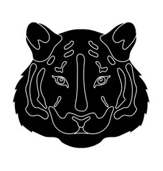 Tiger icon in black style isolated on white vector