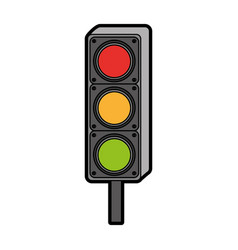 traffic light isolated icon vector image
