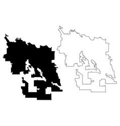 tucson city map vector image
