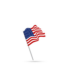 united states flag waving vector image
