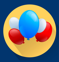 united states of america patriotic balloons vector image
