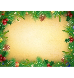 Vintage Christmas and New Year Frame vector